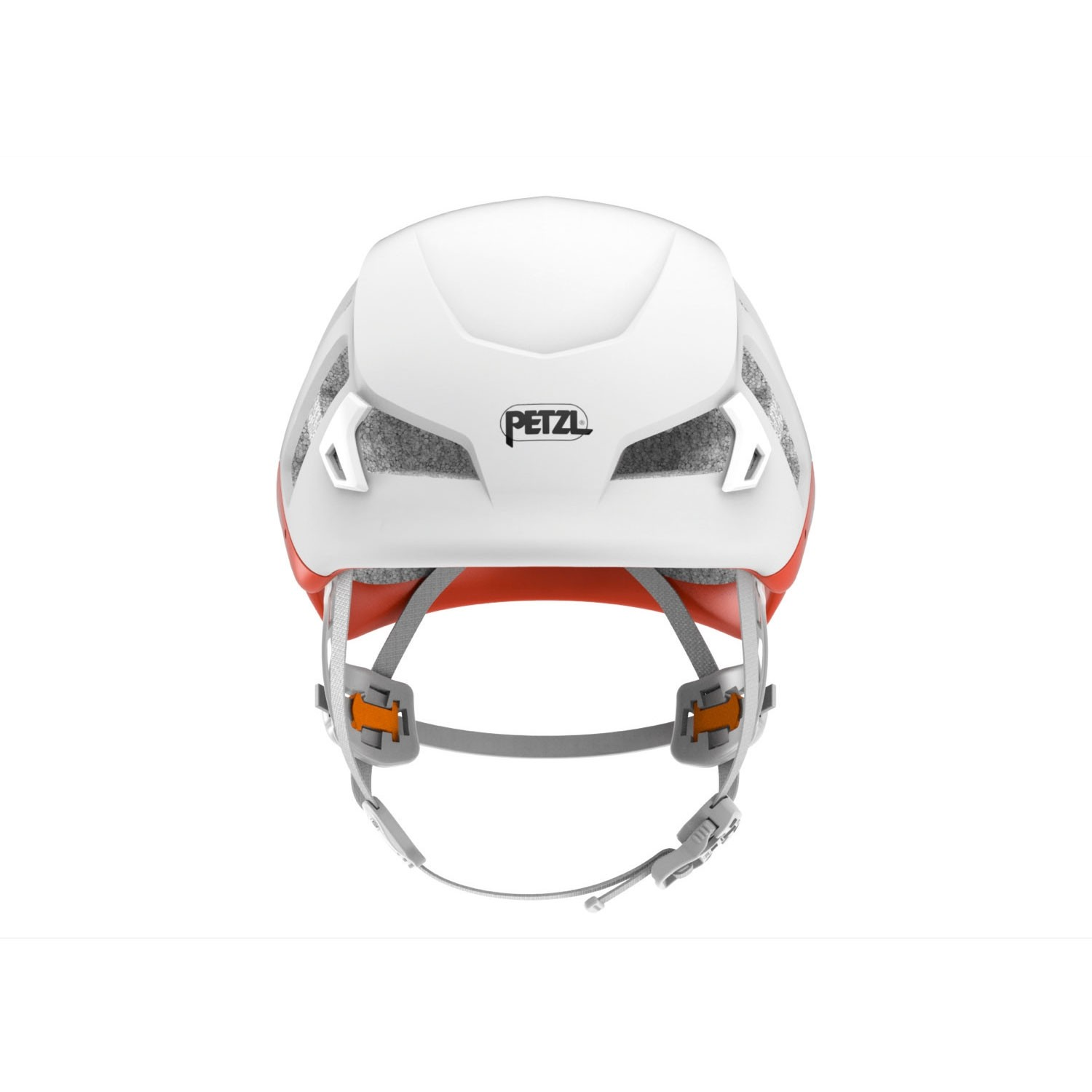 Petzl Meteor Climbing Helmet - Red/Orange - front