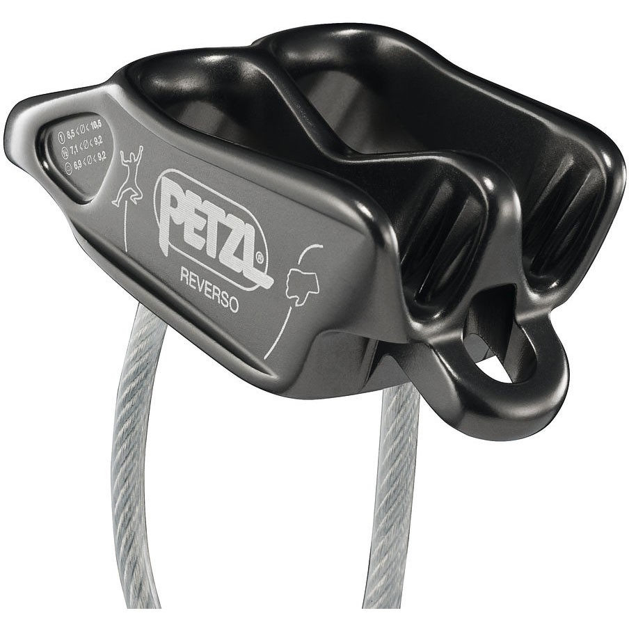 Petzl Reverso Belay Device - Gray