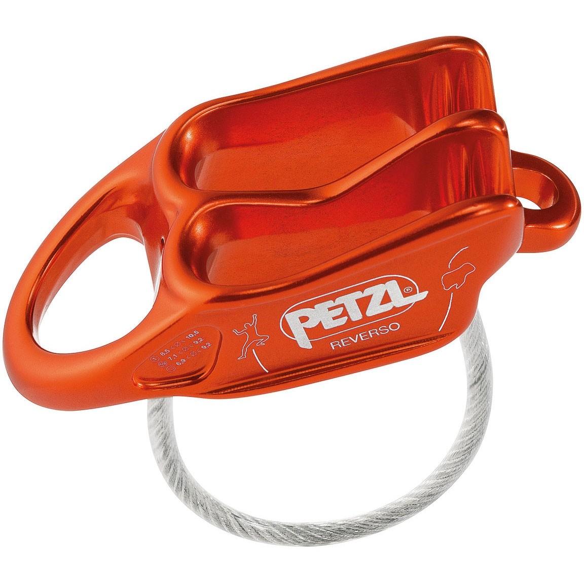 Petzl Reverso Belay Device - Red/Orange