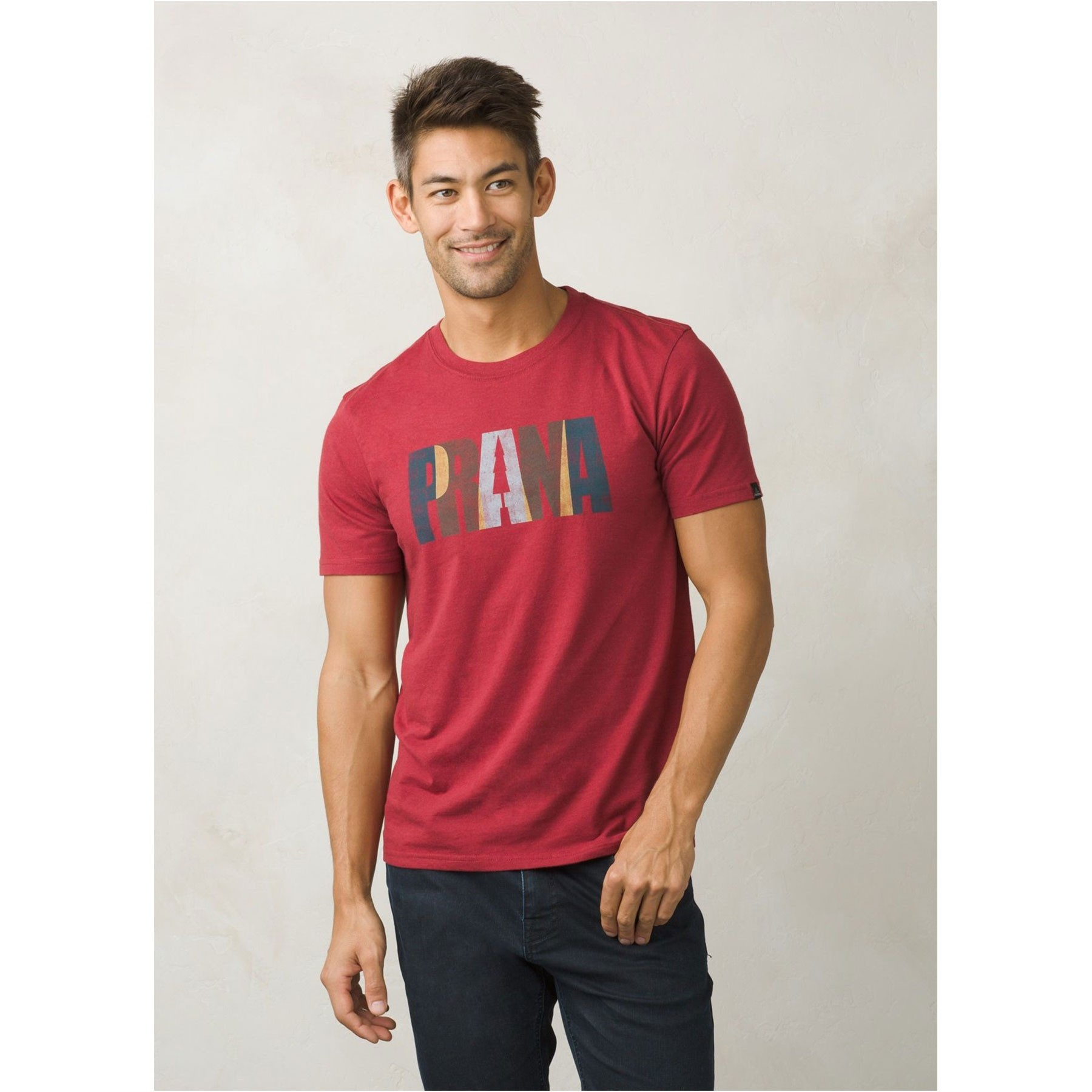 Prana Lock T-Shirt - Crimson Heather