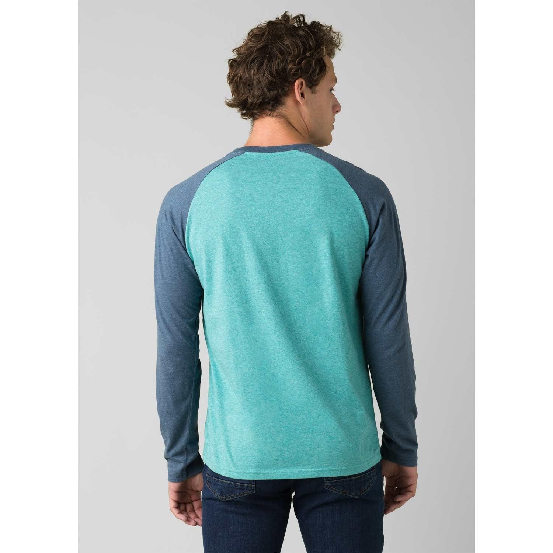 Prana Baseball Raglan T-Shirt - Azurite Heather