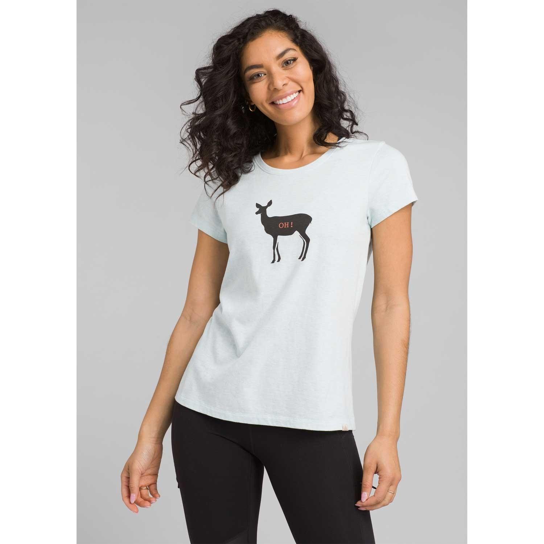 Prana Graphic Tee - Women's - Aqua Deer