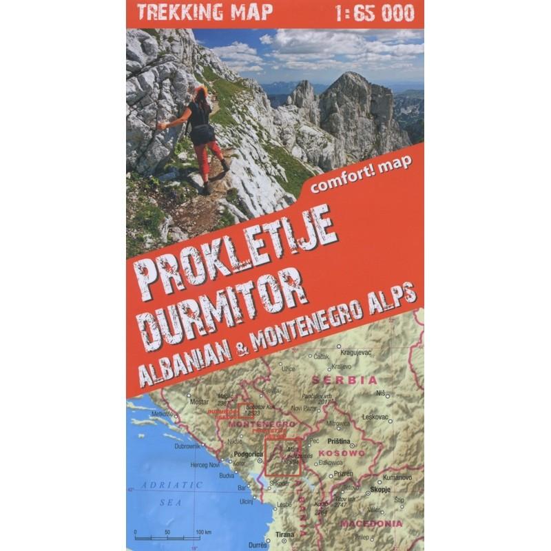 Albanian & Montenegro Trekking Map