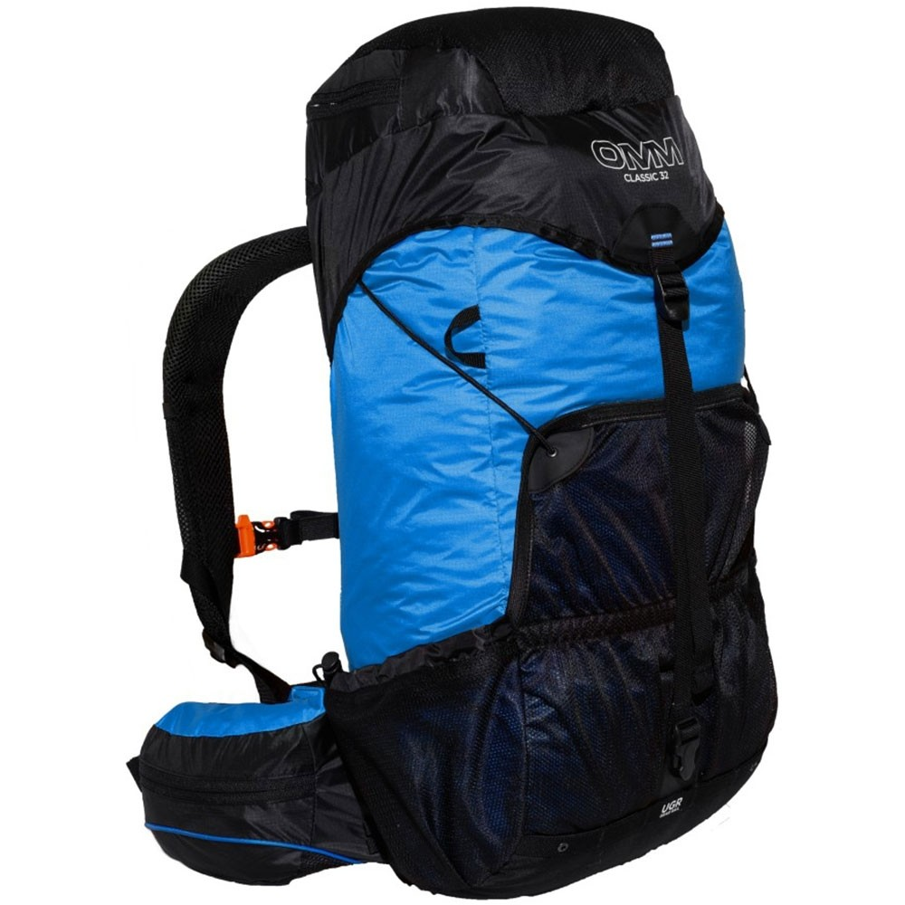 OMM Classic 32 Running Pack - Blue - Side