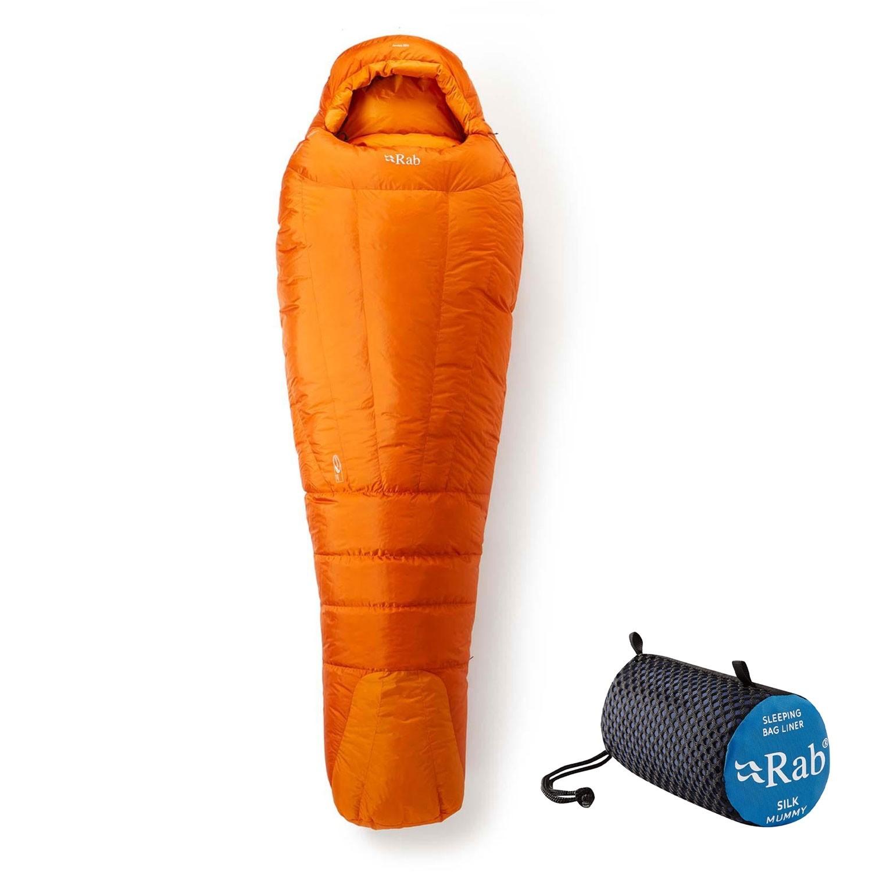 Rab Andes 800 Down Sleeping Bag Left Zip Regular - Satsuma - sleeping bag liner deal
