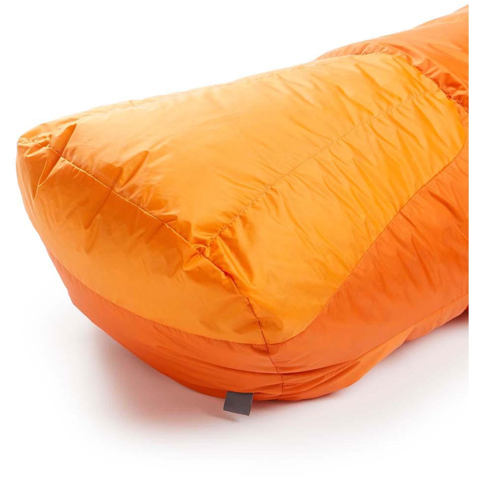 Rab Andes 800 Down Sleeping Bag Left Zip Regular - Satsuma - foot box