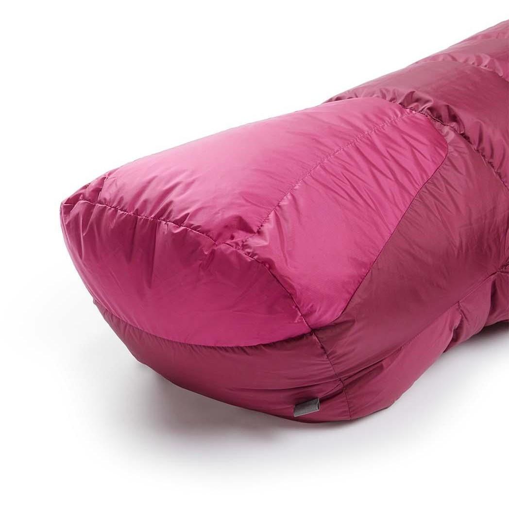 Rab Andes 800 Women's Down Sleeping Bag LZ Regular - Anenome - foot box