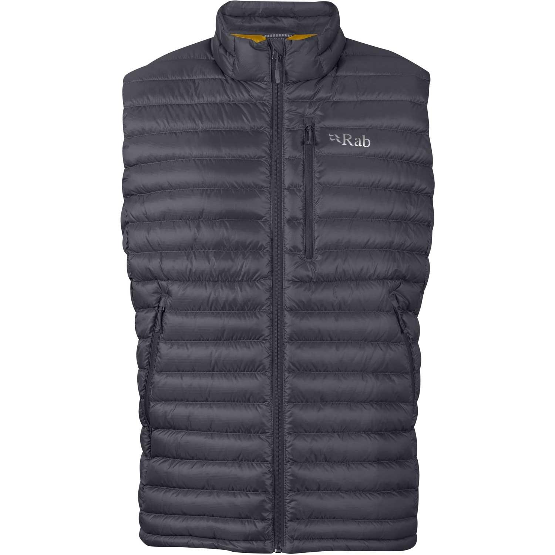 Rab Microlight Vest - Men's Down Gilet - Beluga/Dijon
