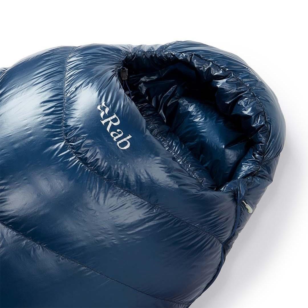 Rab Mythic 400 Ultralight Down Sleeping Bag - Ink - LZ Regular - hood