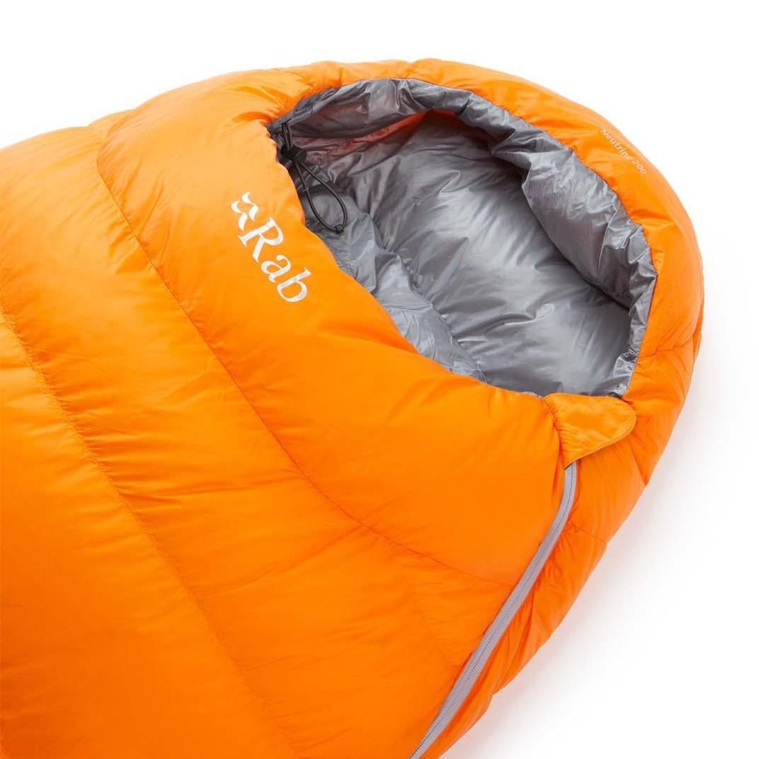 Rab Neutrino 200 Down Sleeping Bag - Persimmon - hood
