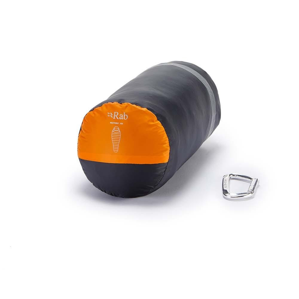 Rab Neutrino 200 Down Sleeping Bag - Persimmon - packed