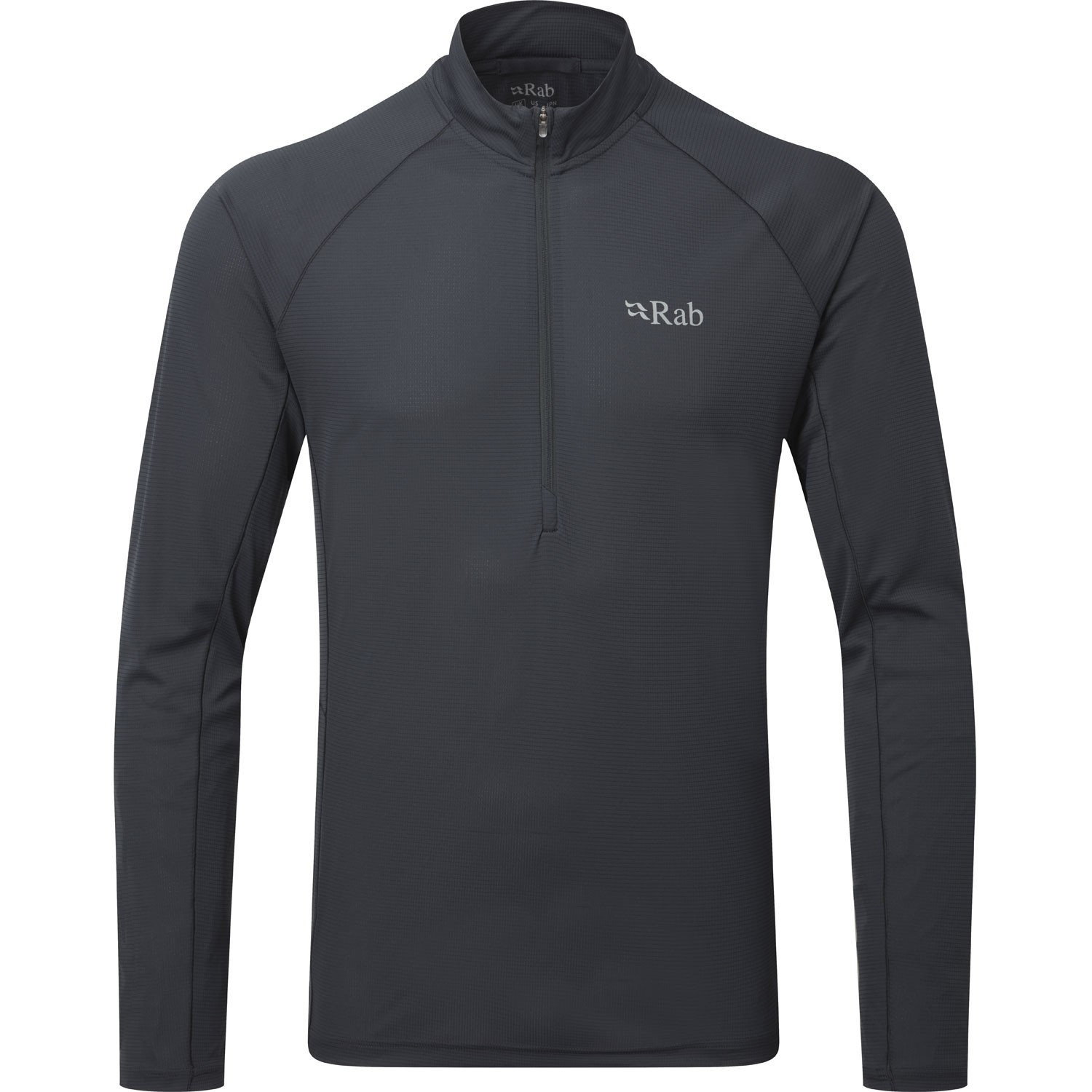 Rab Pulse Long Sleeve Zip Men's Baselayer - Ebony