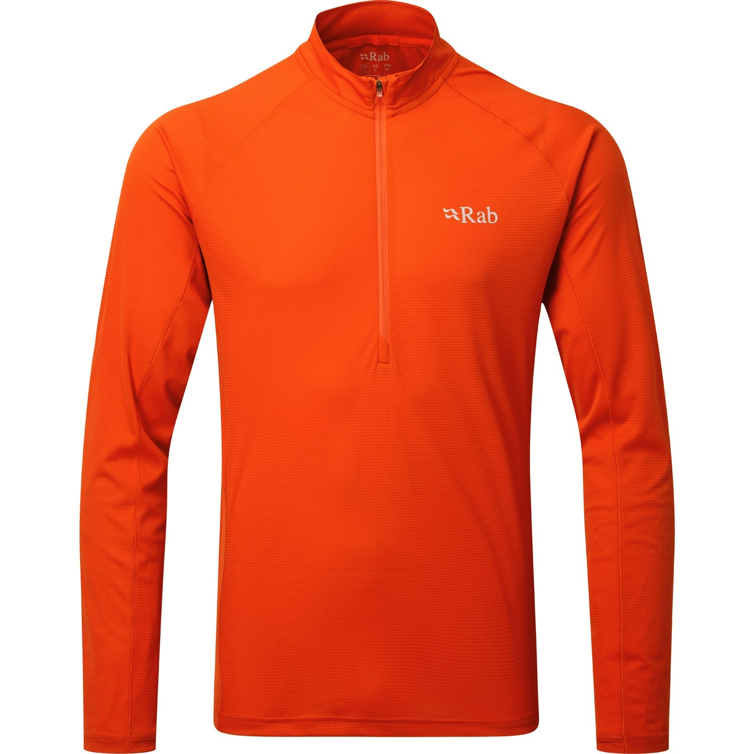 Rab Pulse Long Sleeve Zip Men's Baselayer - Firecracker
