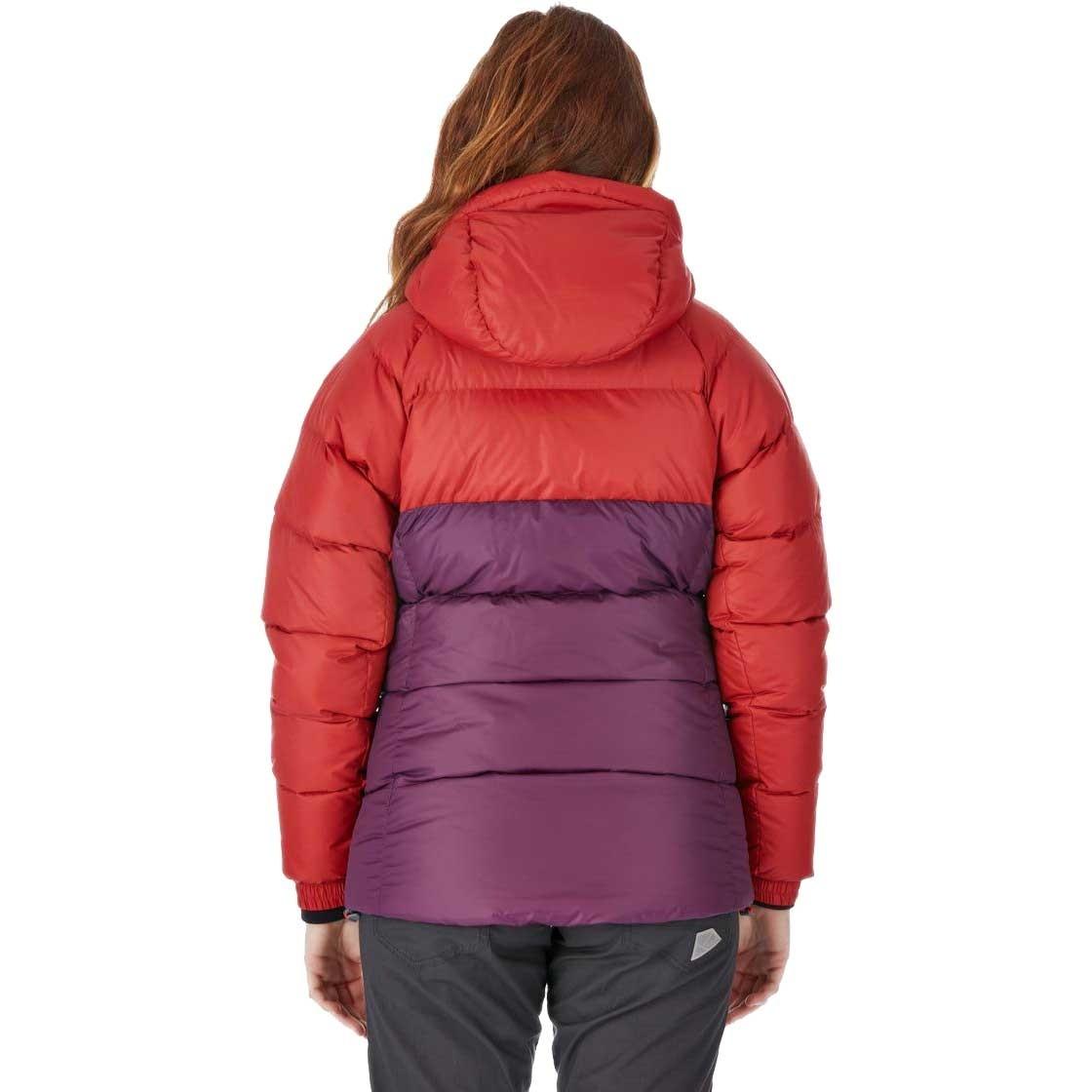 Rab Asylum Women's Down Jacket - Rust/Eggplant