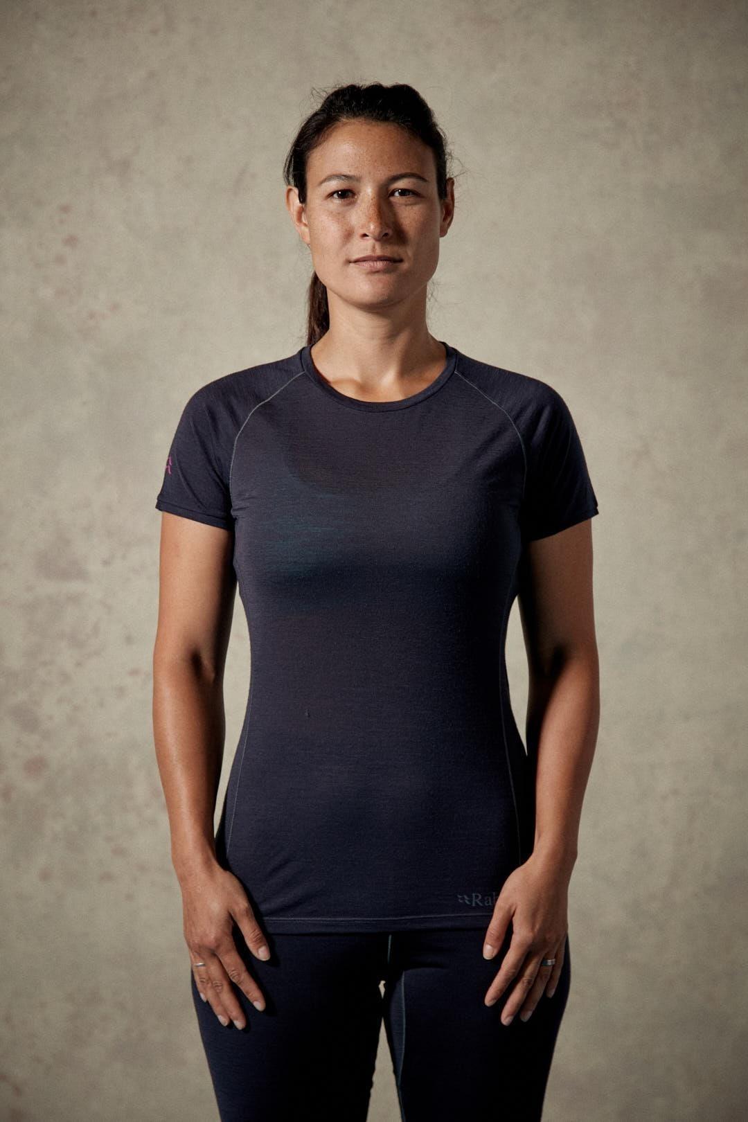 Rab Women's Merino 120 Short Sleeve Tee - Ebony