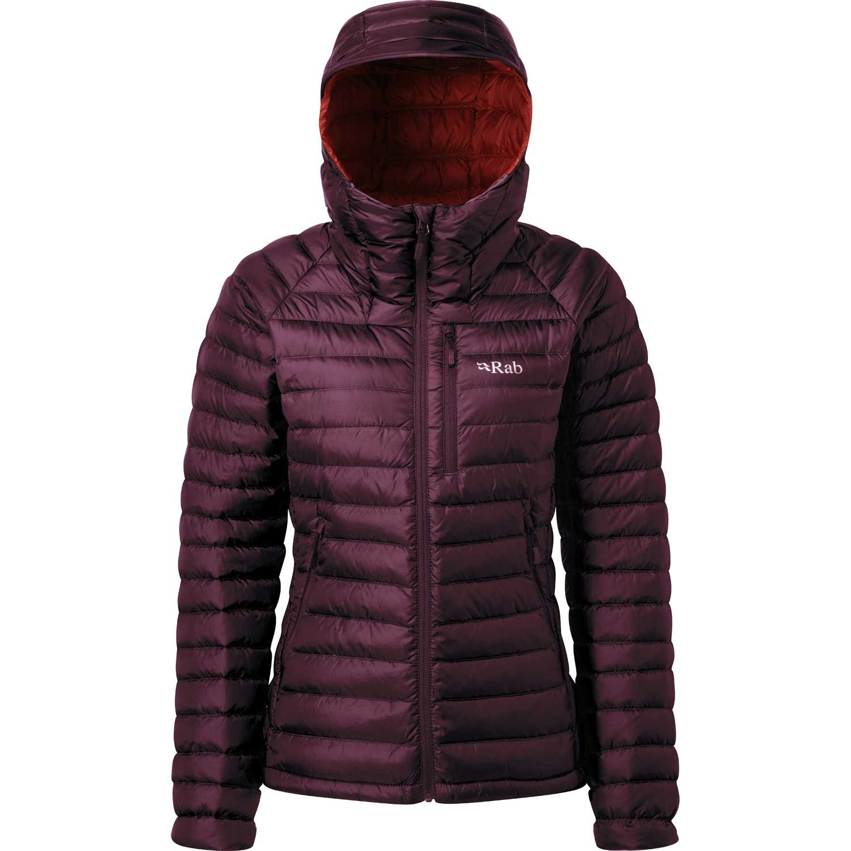 Rab Microlight Alpine Down Jacket - Women's - Eggplant/Rococco