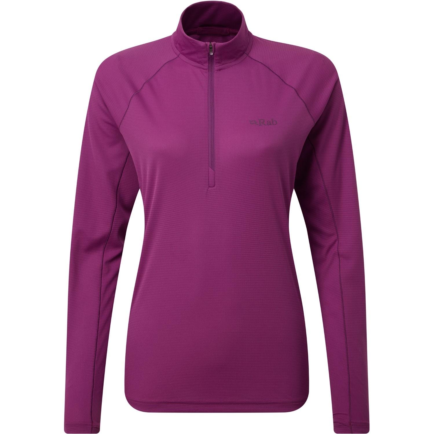 Rab Pulse Long Sleeve Zip Women's Baselayer - Violet