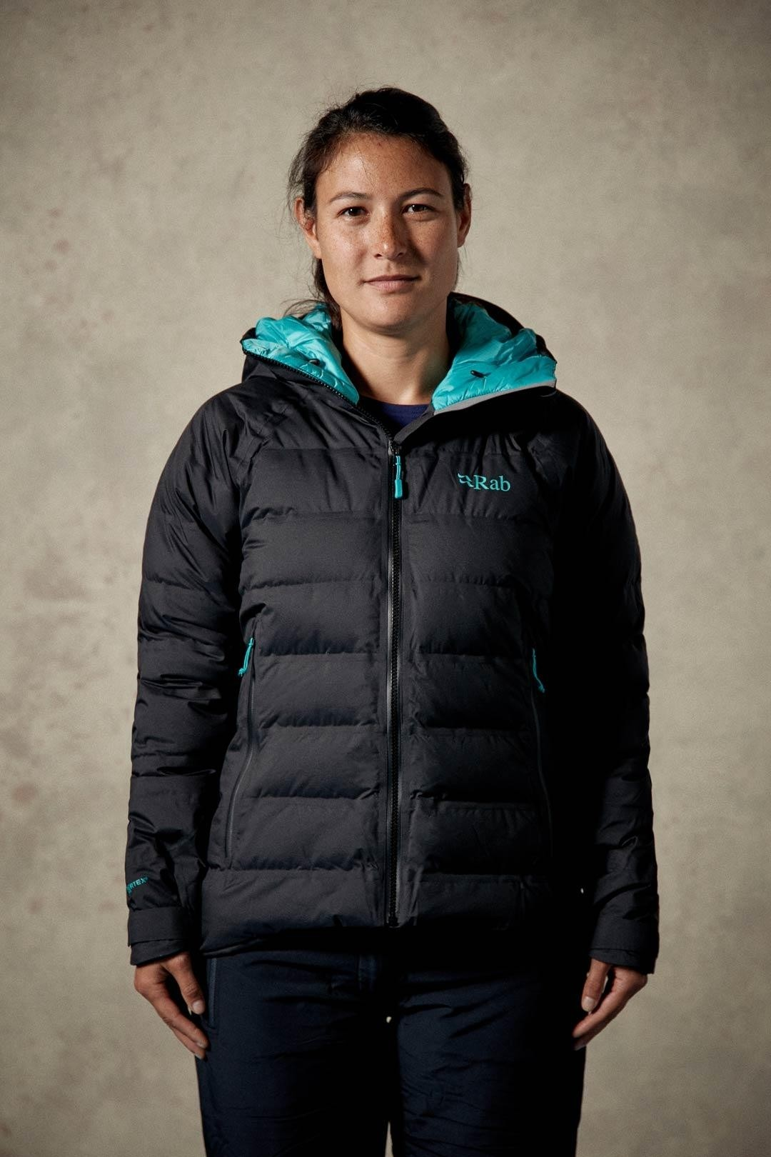 Rab Valiance Women's Down Jacket - Black/Seaglass