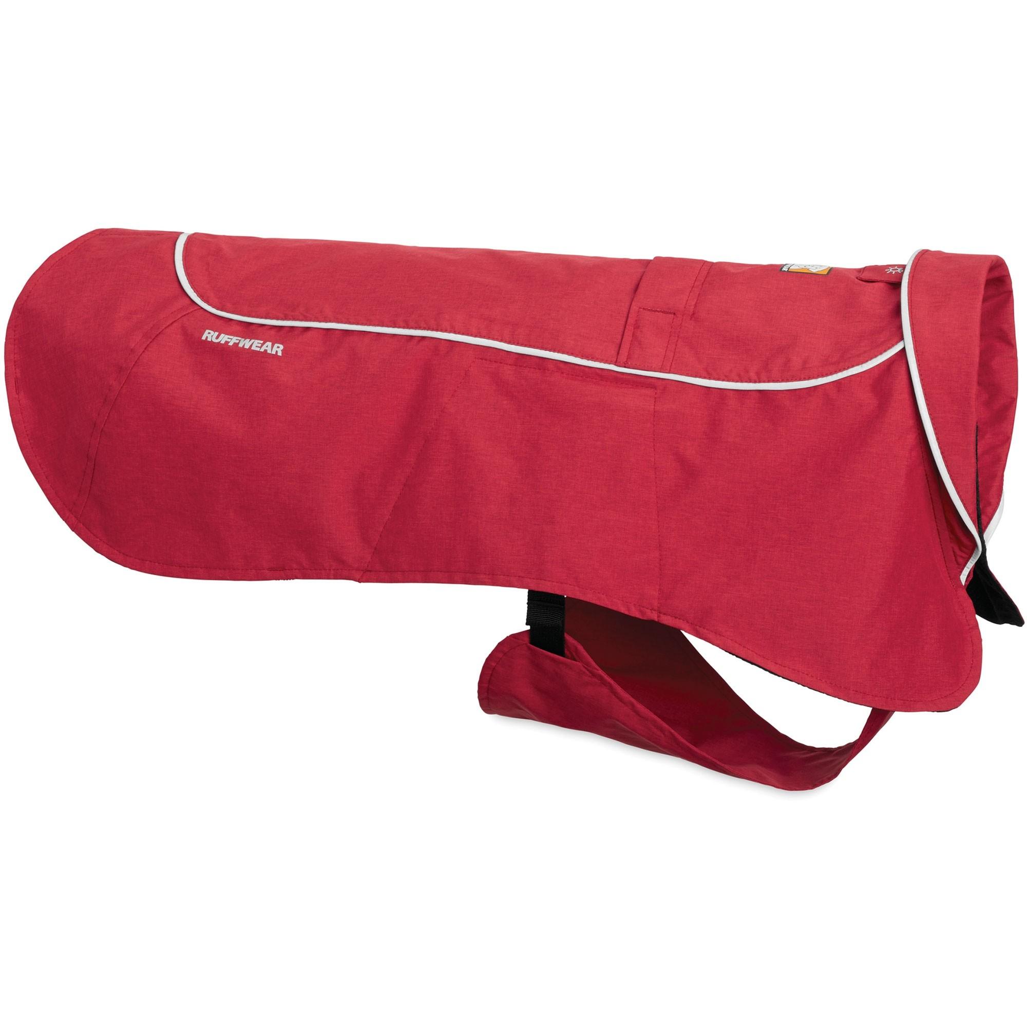 Ruffwear Aira Rain Jacket - Red Rock - Collar Down