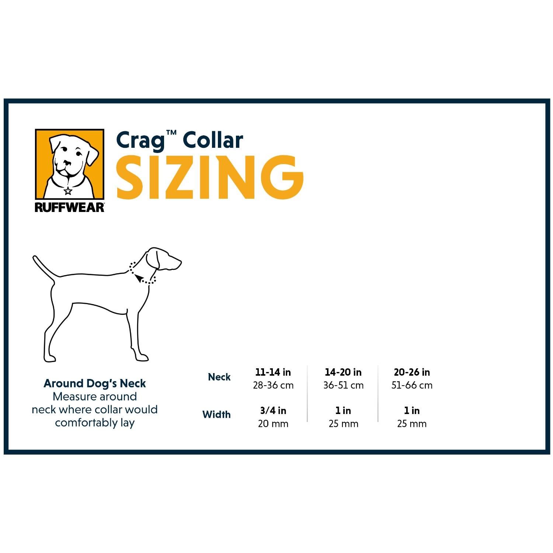Ruffwear Crag Collar - sizing