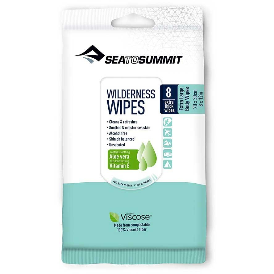 Sea To Summit Wilderness Wipes Extra Large - Packet of 8 wipes