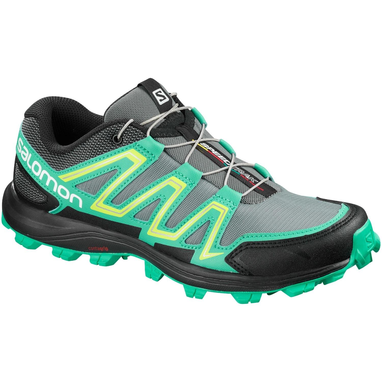 Salomon Speedtrak Women's Trail Running Shoe - Monument/Atlantis/Black