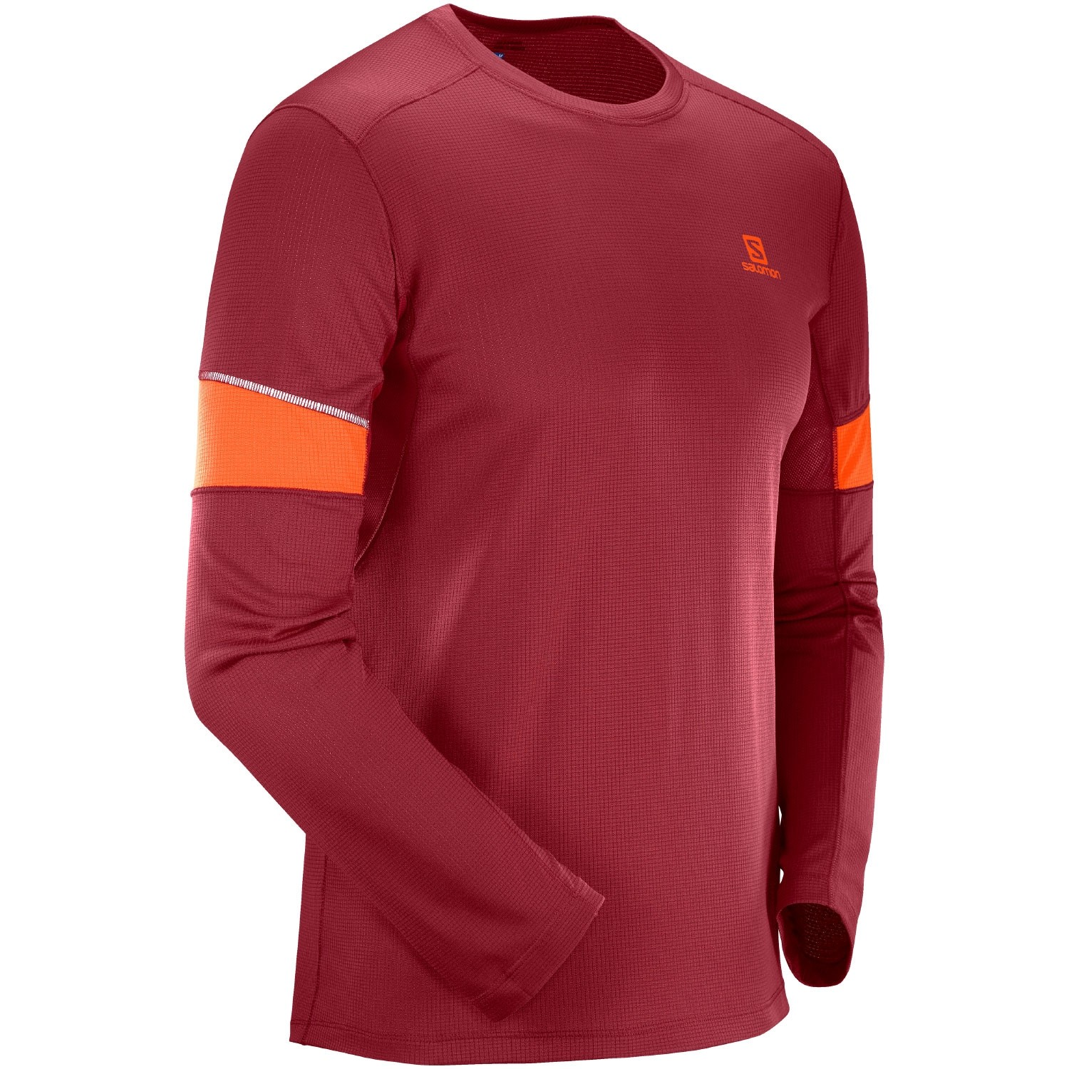 Salomon Agile LS Tee -  Biking Red