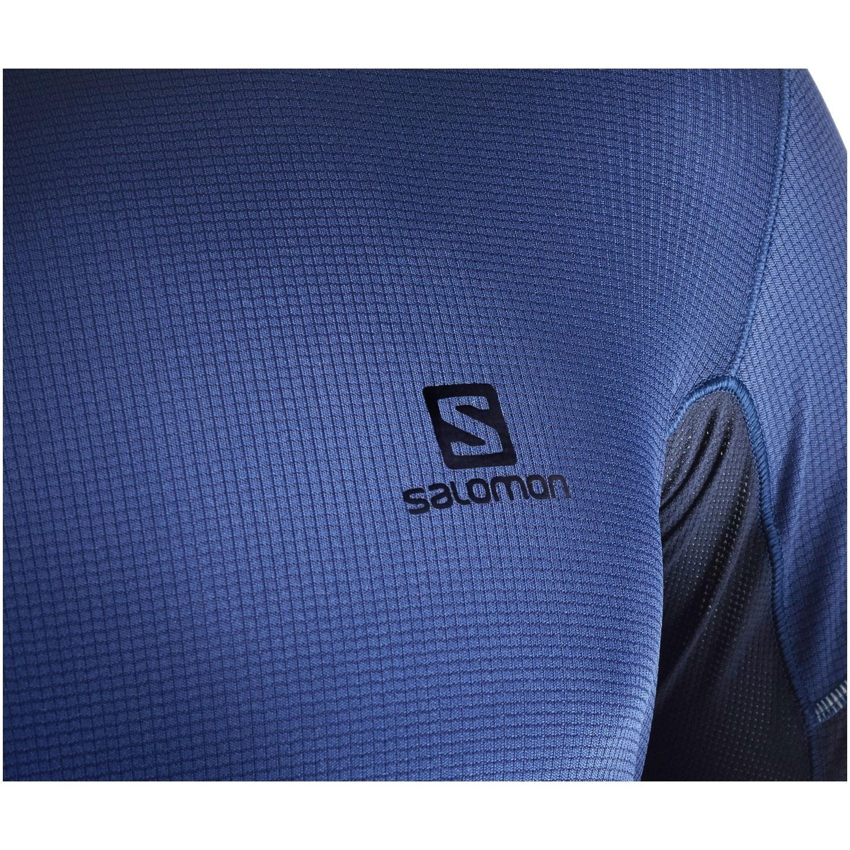 Salomon Agile SS Tee - Medieval Blue/Night Sky