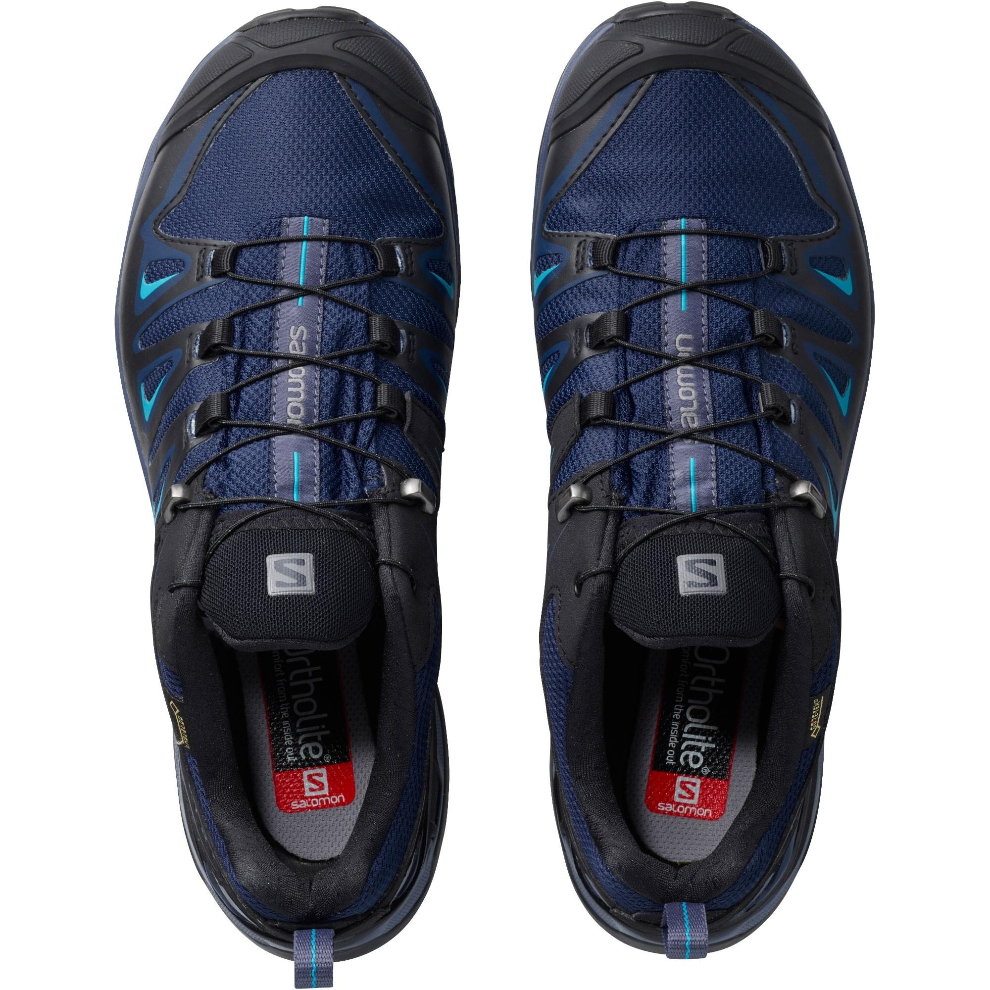 Salomon X Ultra 3 GTX Women's Approach Shoes - Medieval Blue/Black/Hawaiian Surf