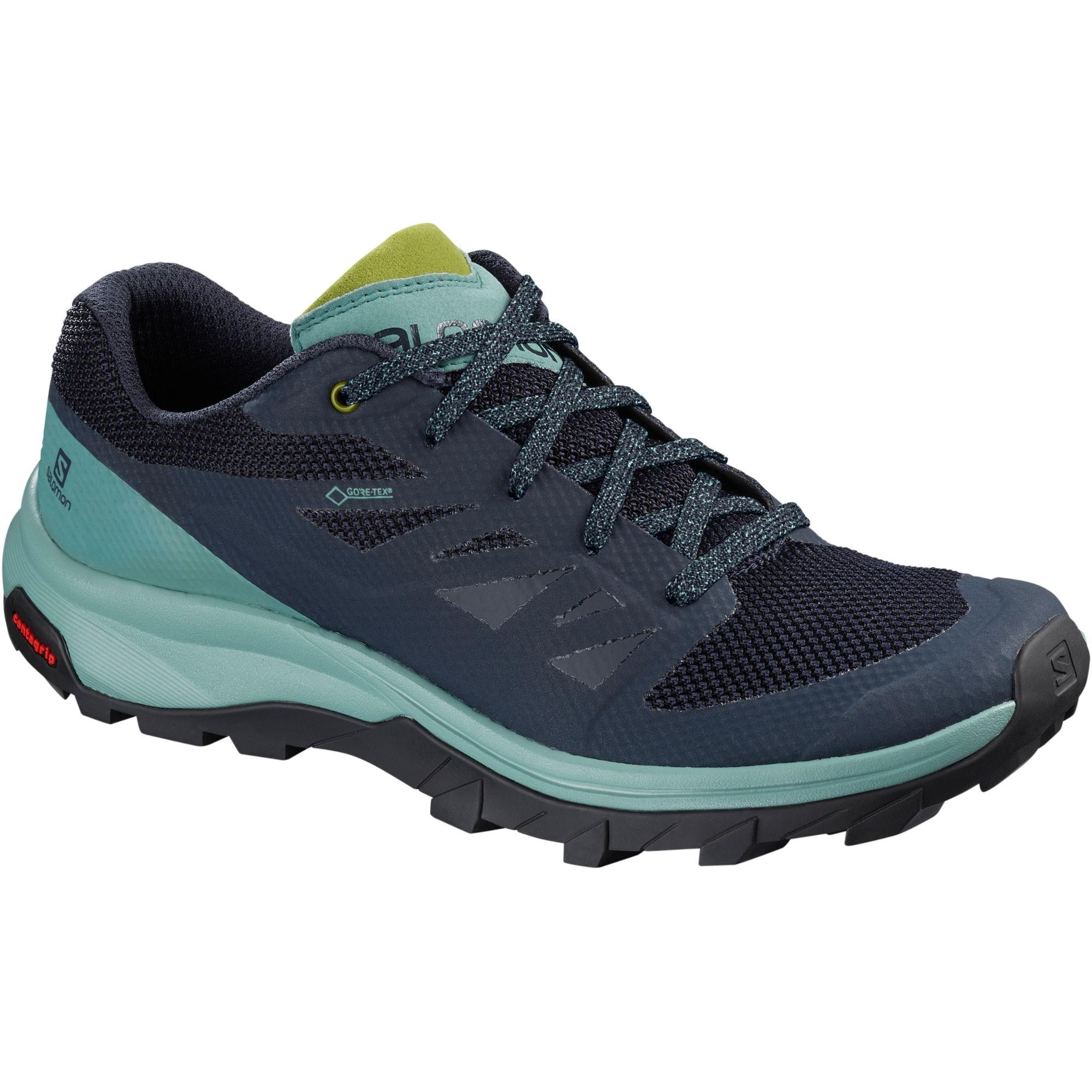 Salomon OUTline GTX Women's Trail Shoe - Trellis/Navy Blazer/Guacamole