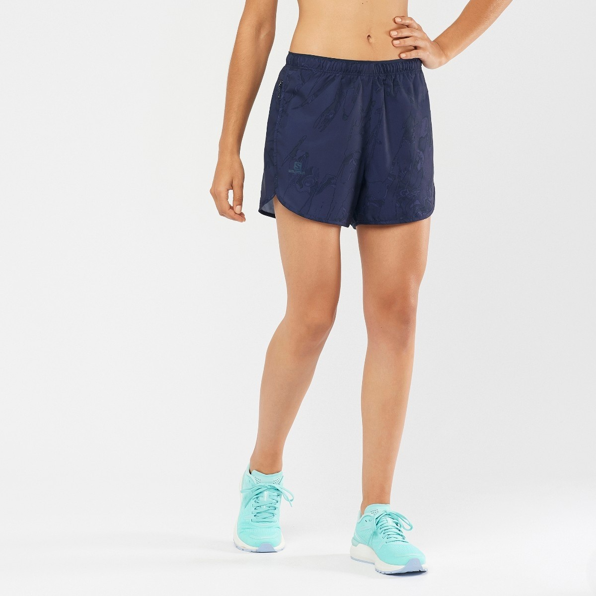 Salomon Agile Short - Women's Running Short - NightSky/AO