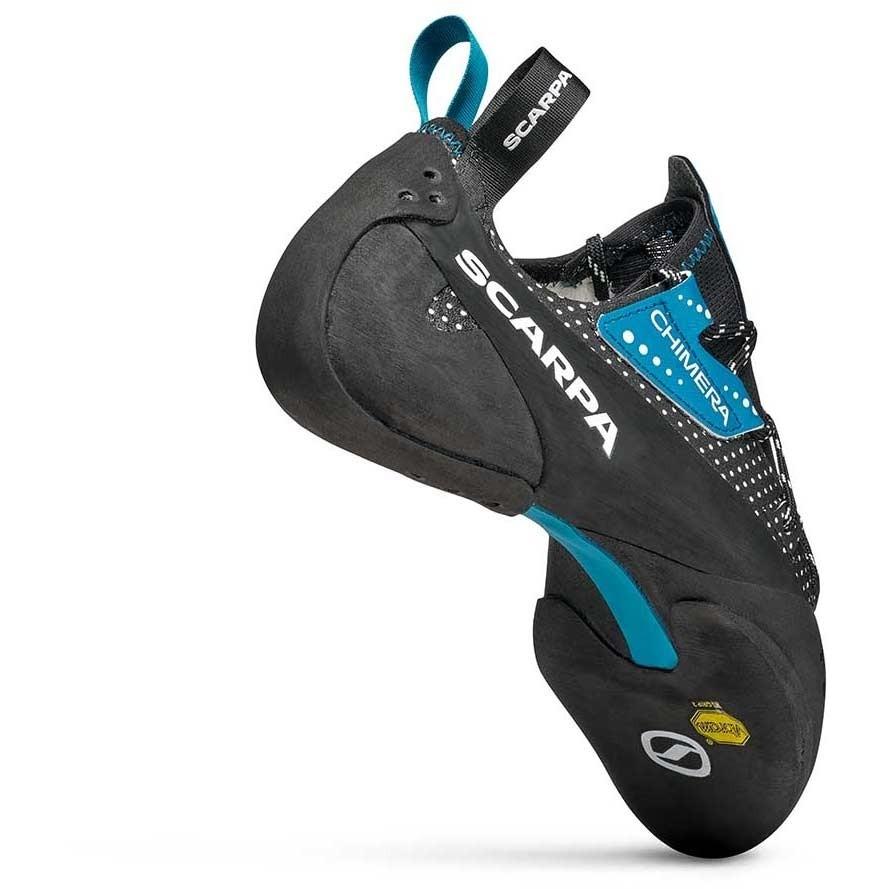 Scarpa Chimera Rock Climbing Shoe - Black/White/Azure