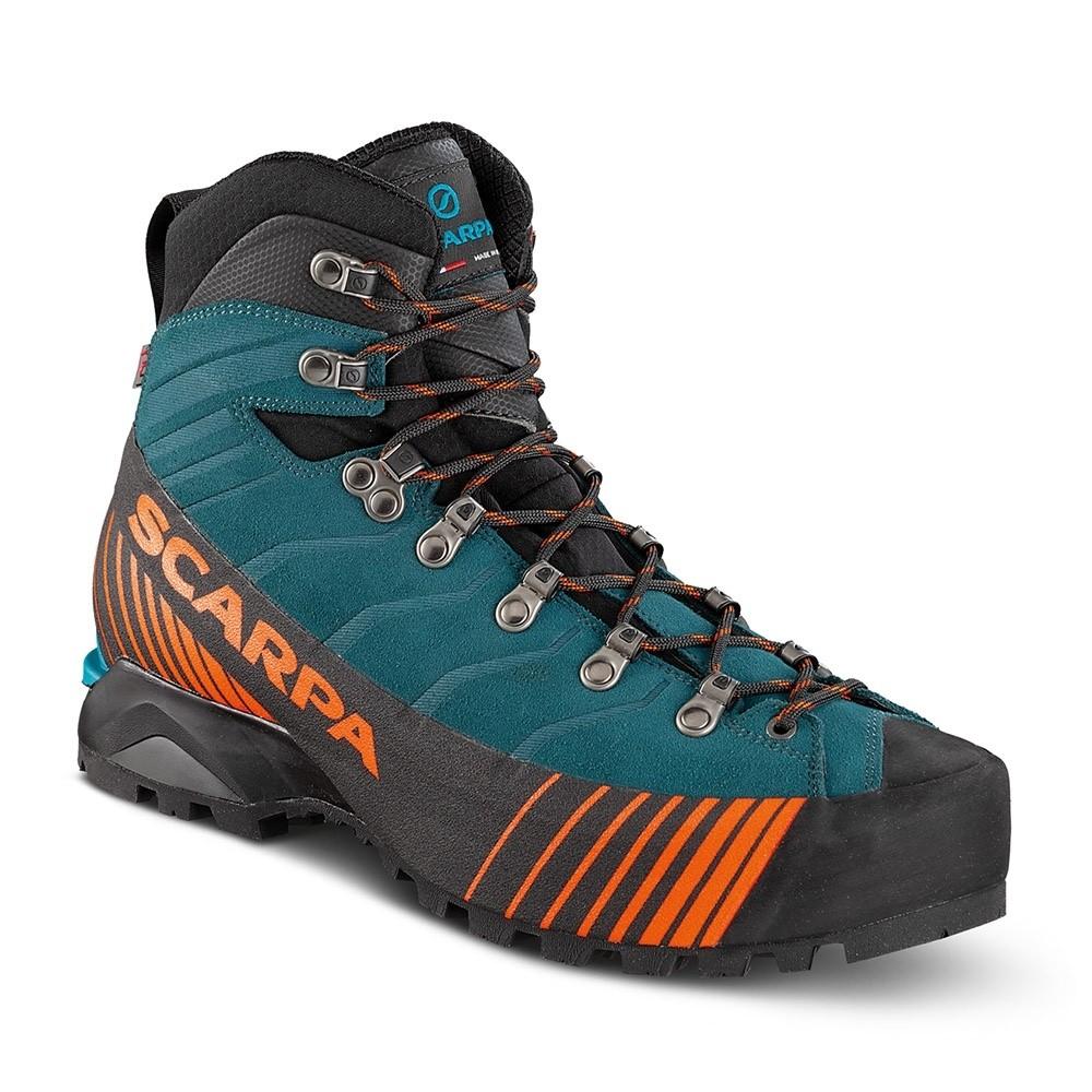Scarpa Ribelle Comfort Leather Mountaineering Boot - Lake Blue/Tonic