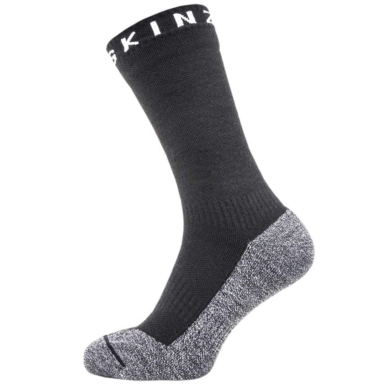 Sealskinz Soft Touch Waterproof Ankle Socks - Black/Grey/White