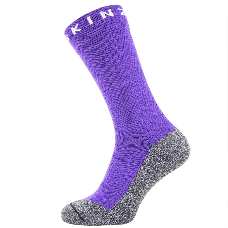 Sealskinz Soft Touch Waterproof Ankle Socks - Purple/Grey/Light Grey