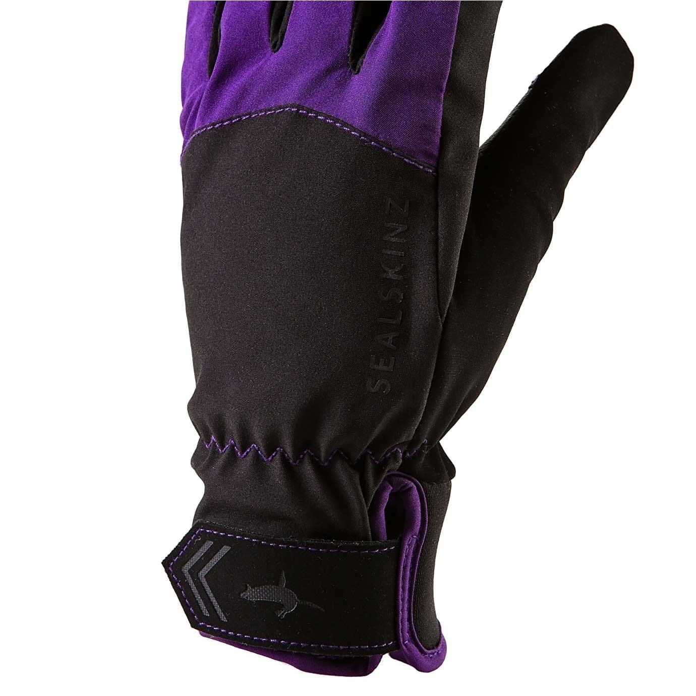 Sealskinz All Season Waterproof Women's Gloves - Black/Purple - tab