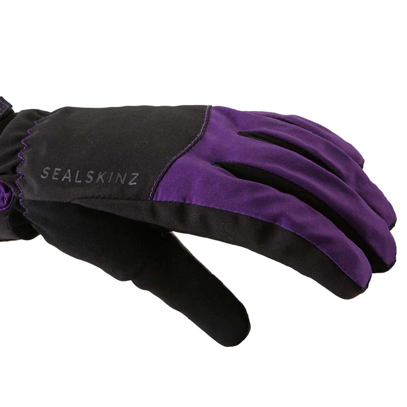 Sealskinz All Season Waterproof Women's Gloves - Black/Purple - back