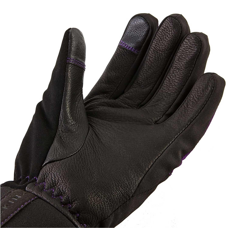 Sealskinz All Season Waterproof Women's Gloves - Black/Purple - palm