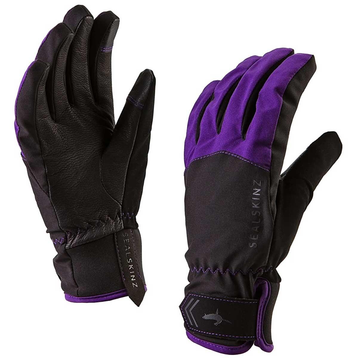 Sealskinz All Season Waterproof Women's Gloves - Black/Purple