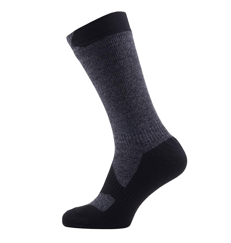 Sealskinz-Walking socks mid-Dark Grey-Black-closeup-W17