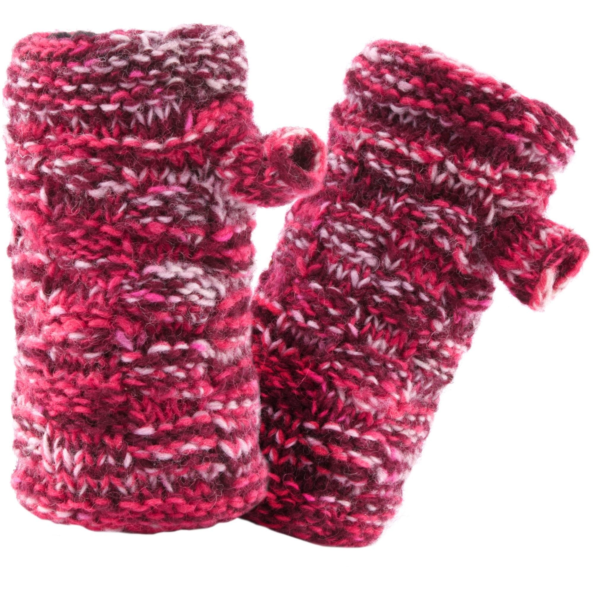Sherpa Basket Weave Rimjhim Hand Warmers - Anaar
