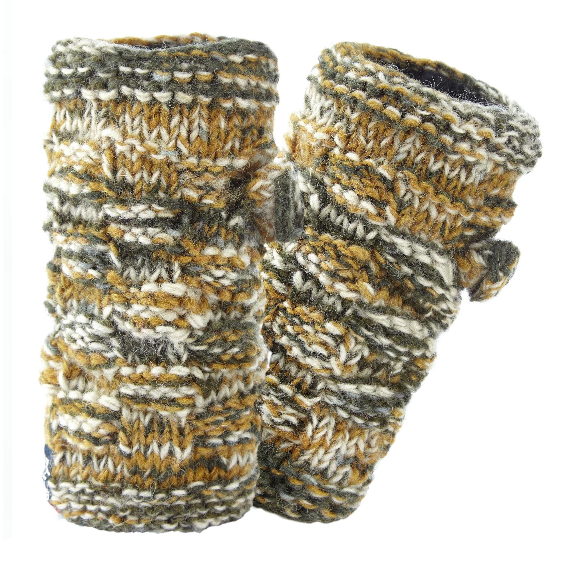 Sherpa Basket Weave Rimjhim Hand Warmers - Karnali Sand