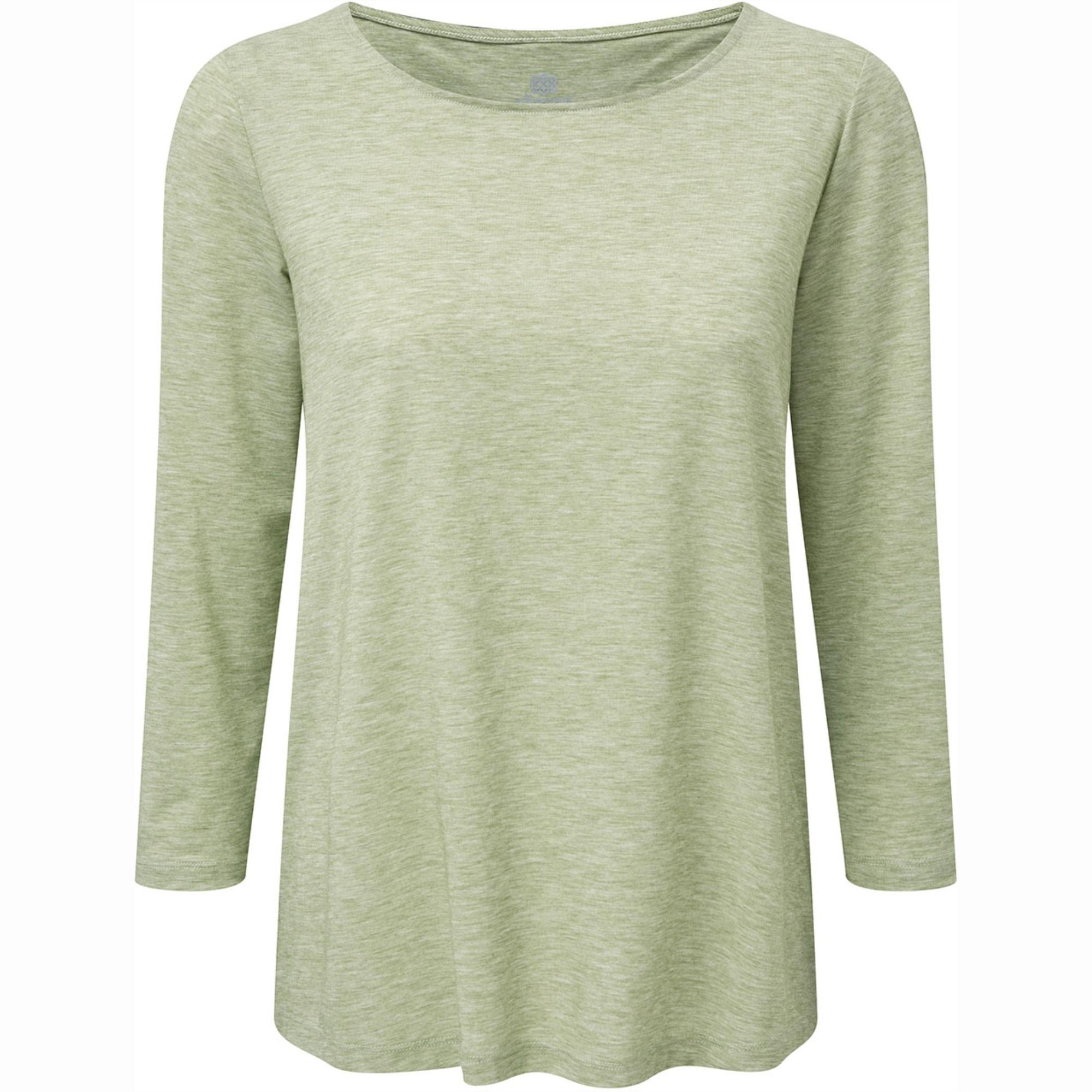 SHERPA - Asha Women's ¾ Knit Top - Gokarna Green