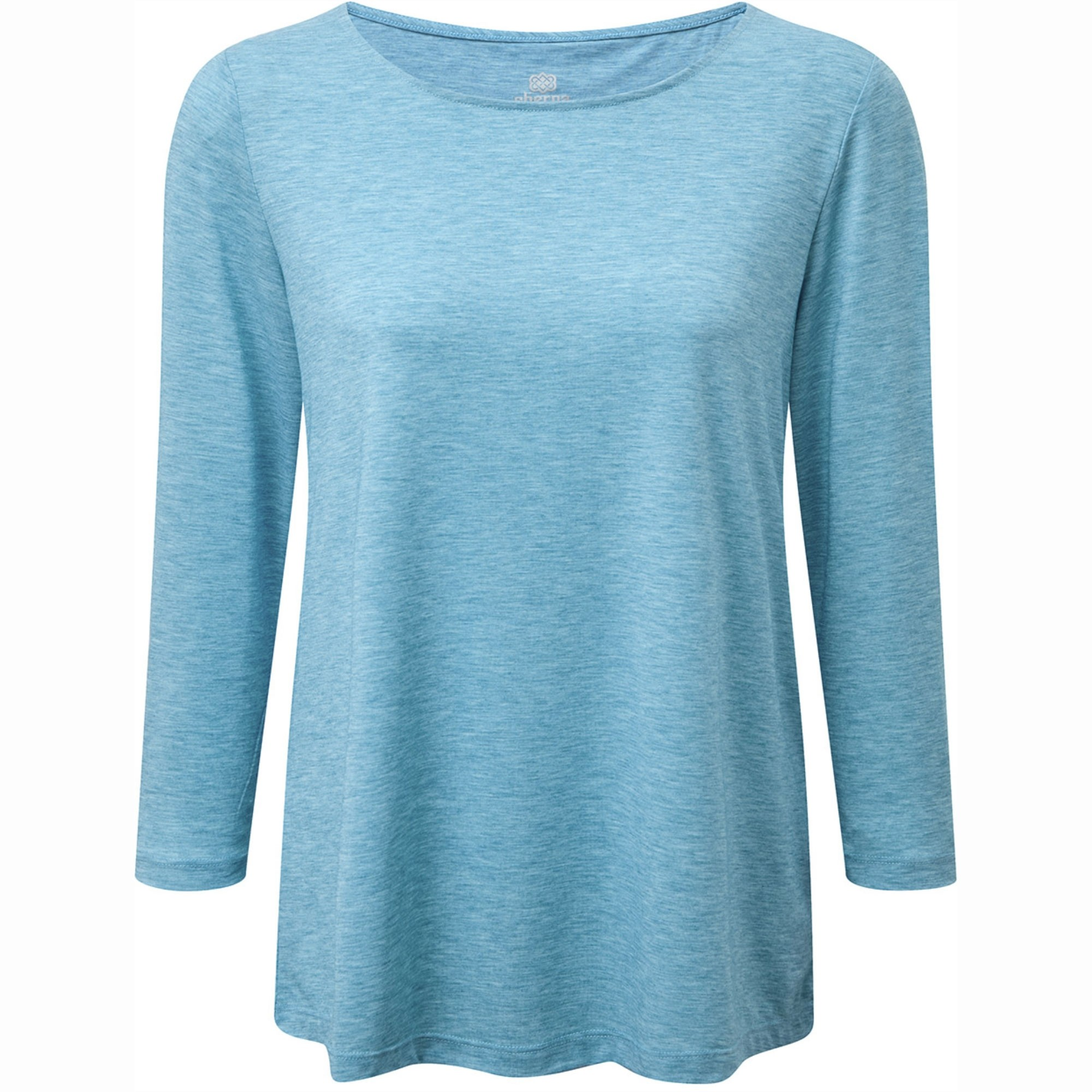 SHERPA - Asha Women's ¾ Knit Top - Blue Tara