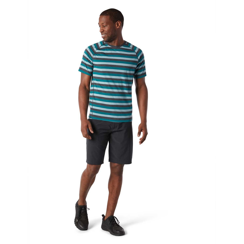 Smartwool Merino 150 Baselayer Short Sleeve - Mens - Pacific Stripe