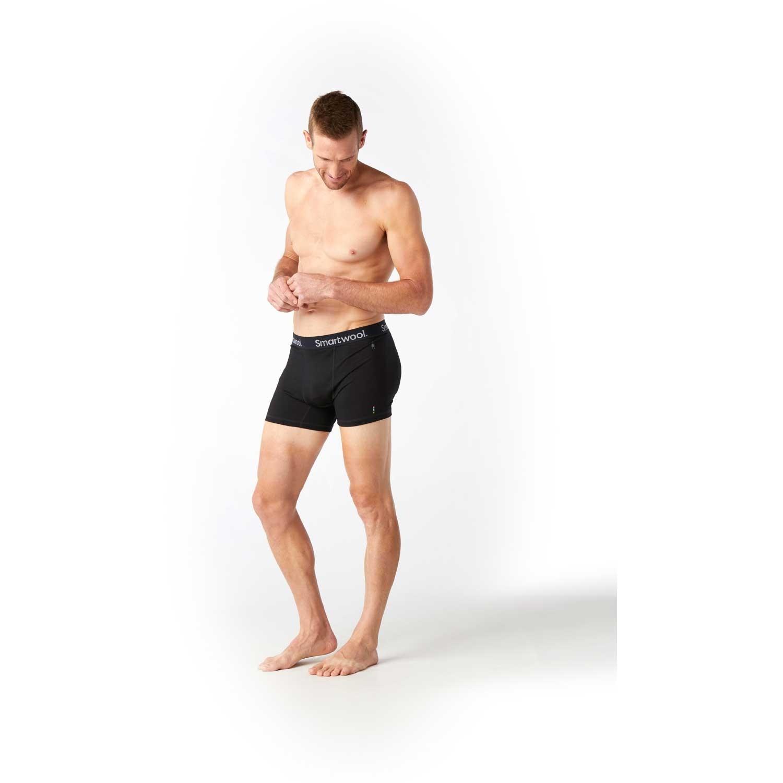 Smartwool Merino Sport 150 Pattern Boxer Brief - Men's - Black
