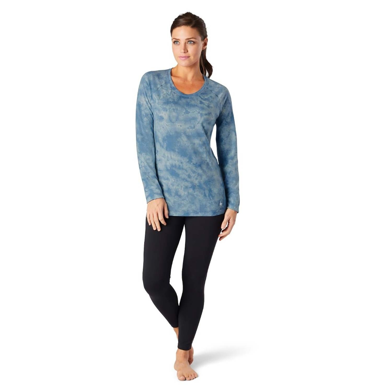 Smartwool Merino 150 Baselayer Long Sleeve - Womens - Cloudy Blue Marble