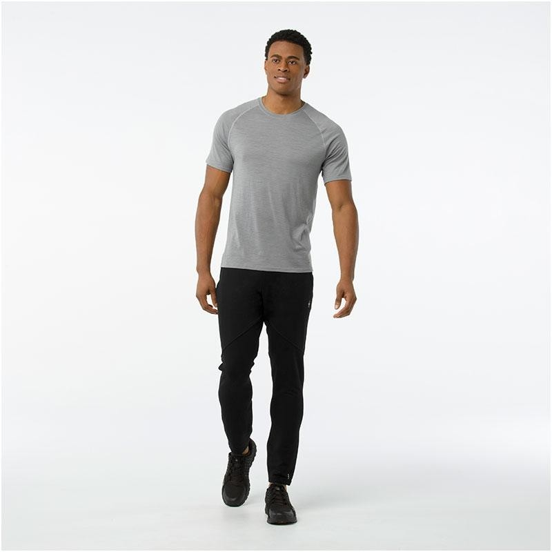 Merino 150 Baselayer Short Sleeve Pattern - Light Grey