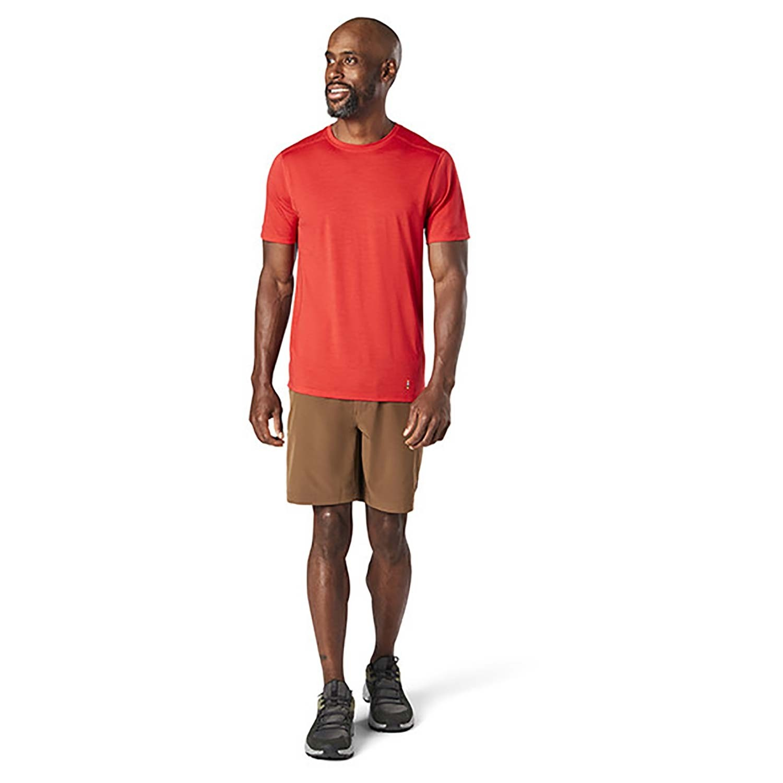 Smartwool Merino 150 Baselayer Short Sleeve - Mens - Cardinal Red
