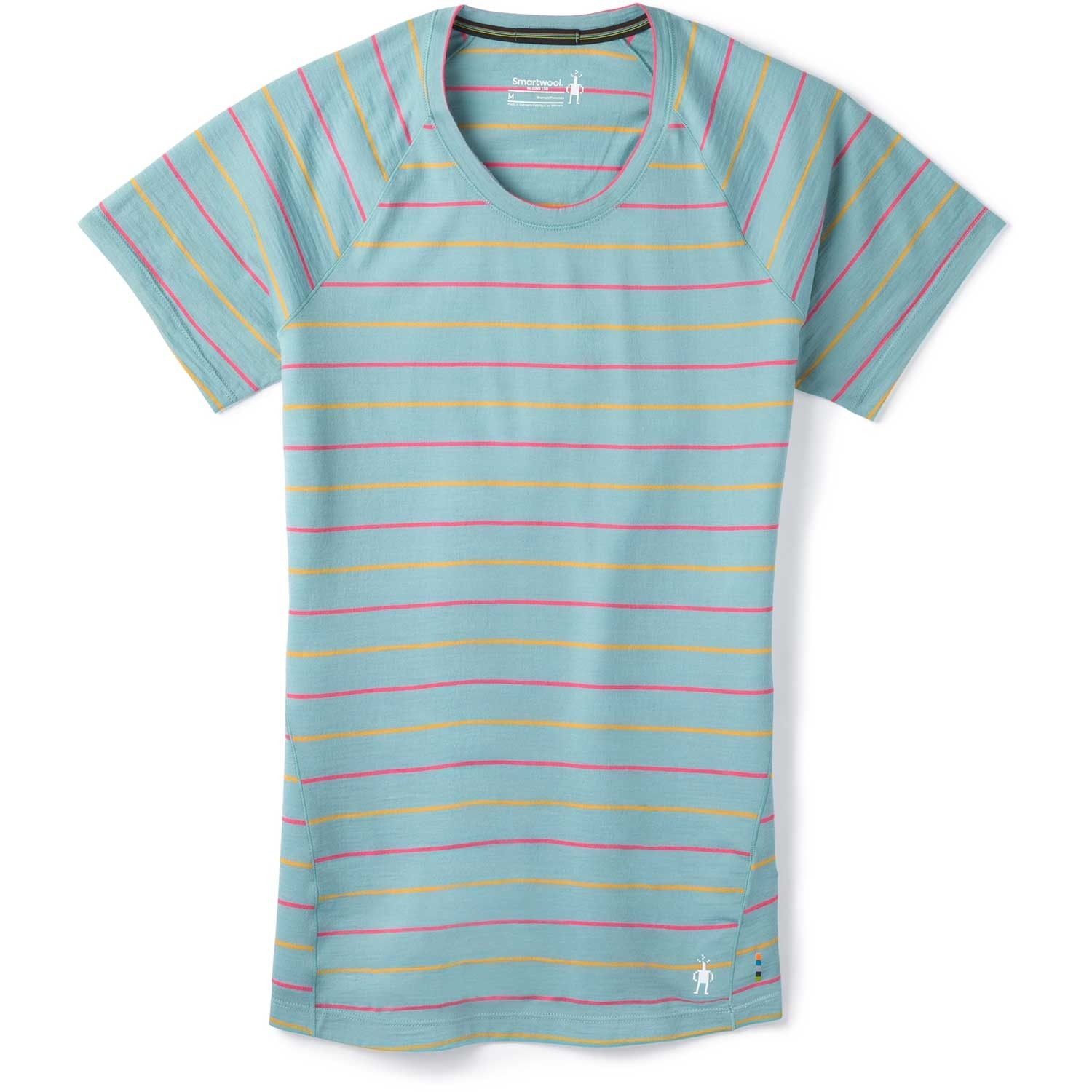 Smartwool Merino 150 Baselayer Short Sleeve - Womens - Wave Blue Stripe